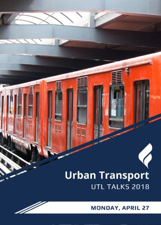 Public Transport Train in Subway Tunnel Flayer Modelo de Design