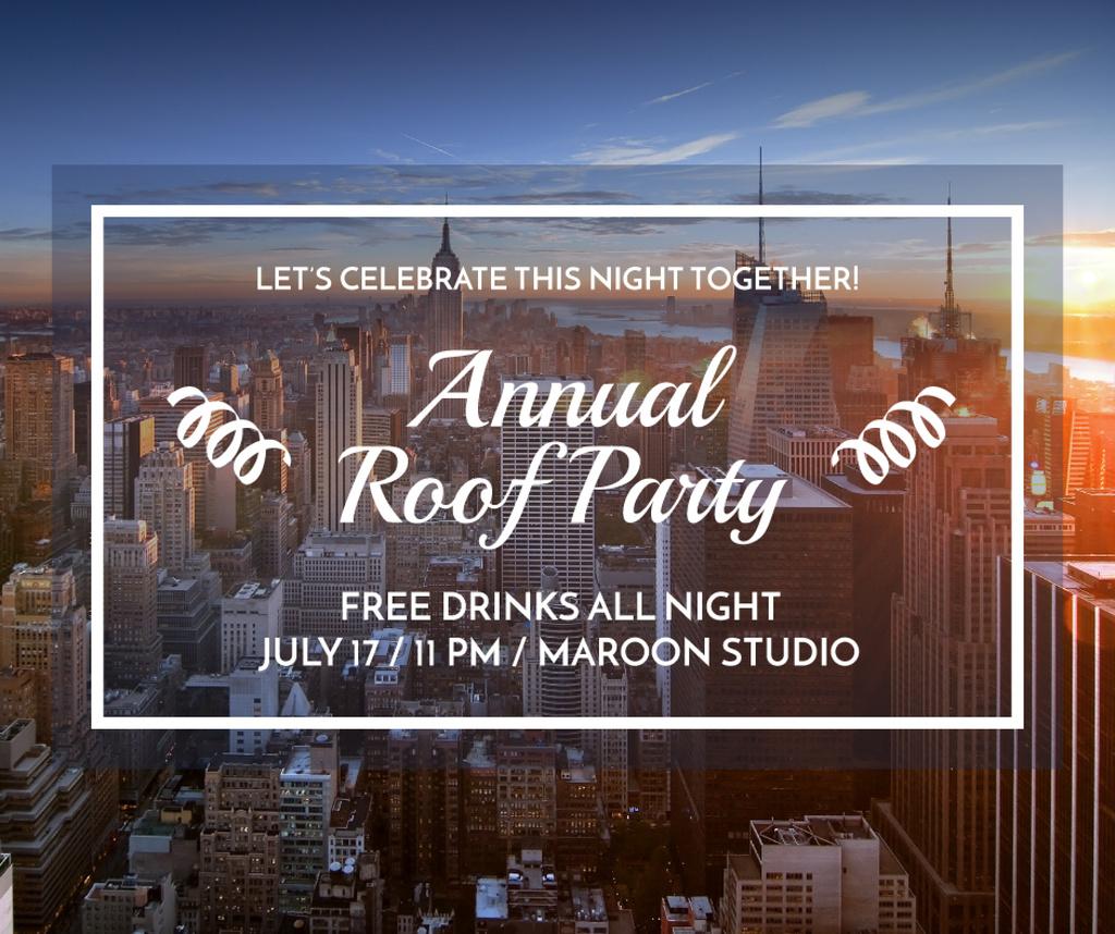 Roof party invitation — Crear un diseño