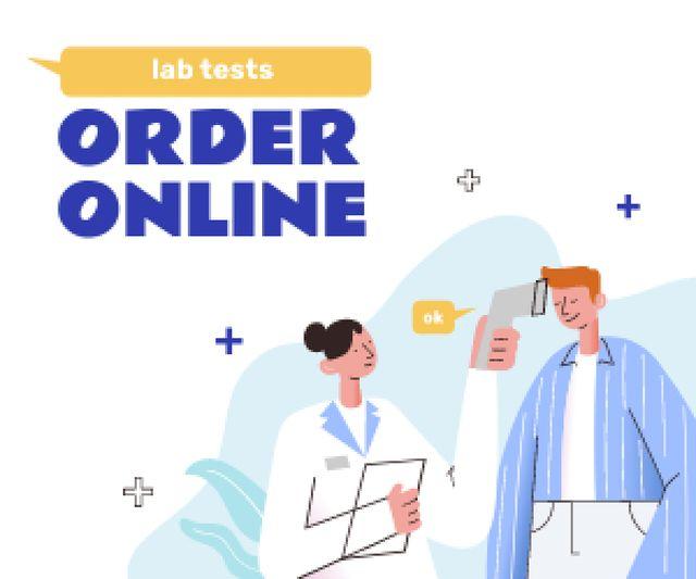 Template di design Online Lab Tests offer Medium Rectangle