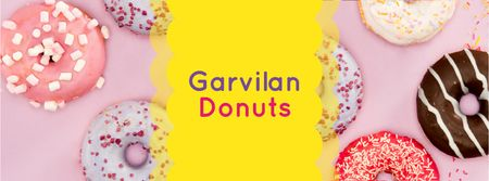 Modèle de visuel Delicious glazed Donuts - Facebook cover