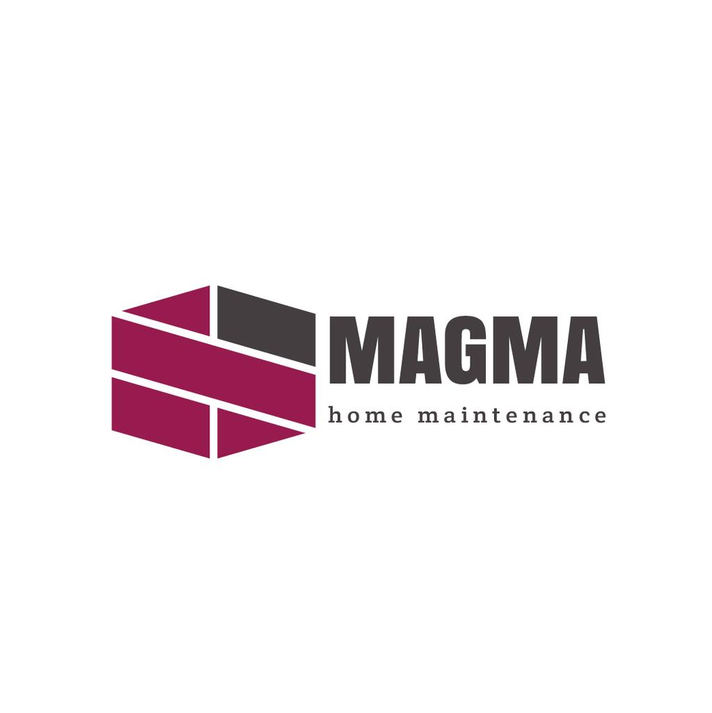 Home Maintenance Services Ad with Geometric Lines Icon — Crea un design