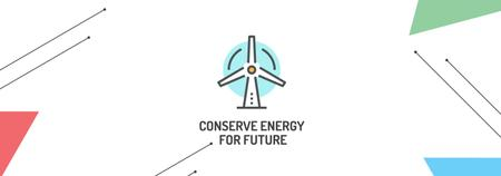 Conserve Energy Wind Turbine Icon Tumblr Modelo de Design