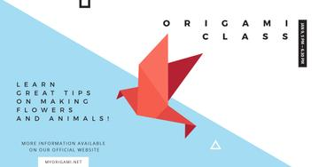 Origami class Ad with Paper Bird