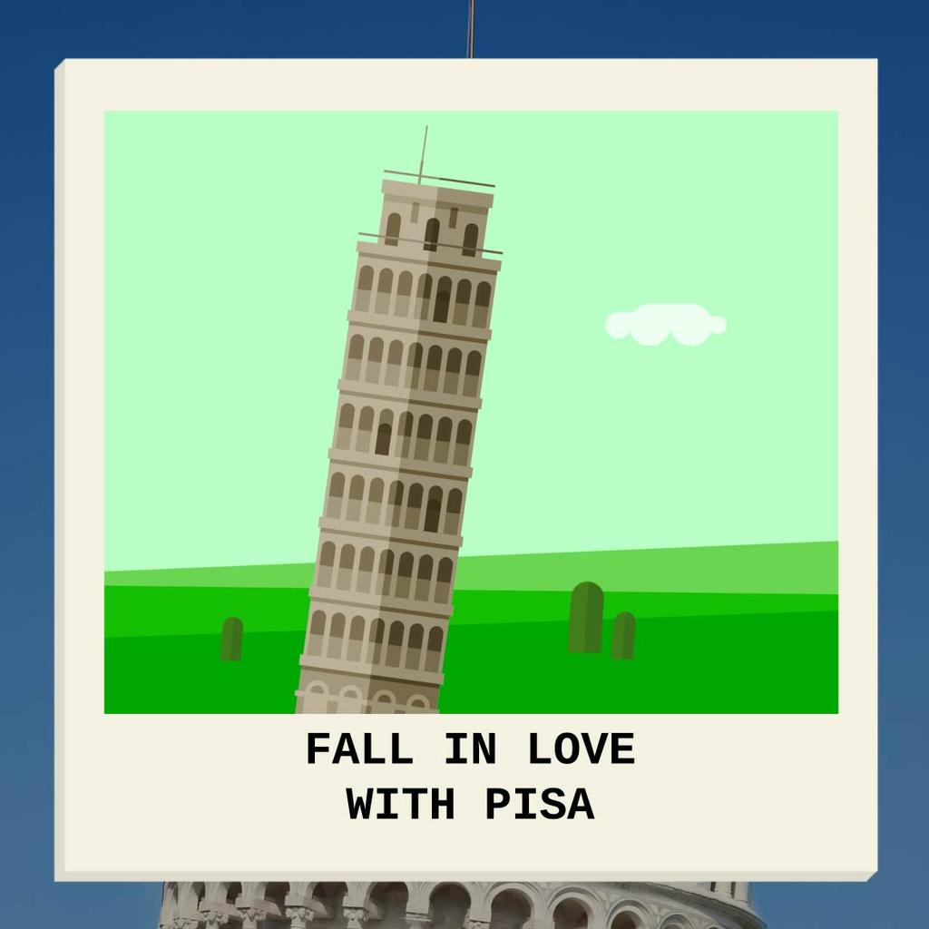 Fall In Love With Pisa — Создать дизайн