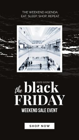 Szablon projektu Black Friday Ad People in shopping mall Instagram Story