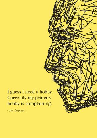 Ontwerpsjabloon van Poster van Citation about complaining hobby
