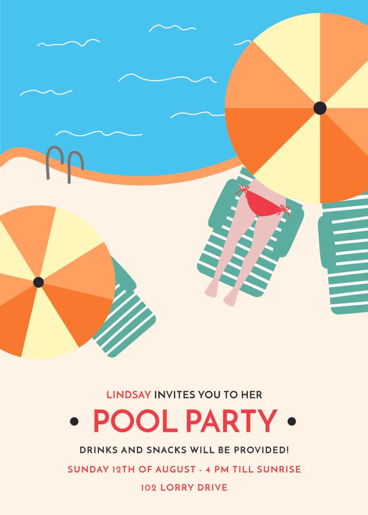Pool party invitation — Créer un visuel