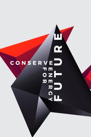 Ontwerpsjabloon van Pinterest van Concept of Conserve energy for future