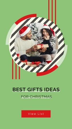 People sharing Christmas gifts Instagram Story – шаблон для дизайну