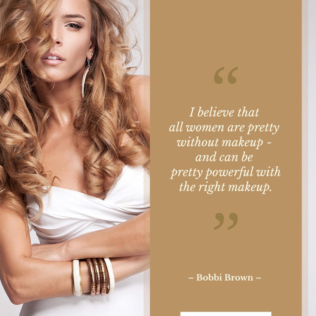 beautiful young woman with beauty quote — Maak een ontwerp