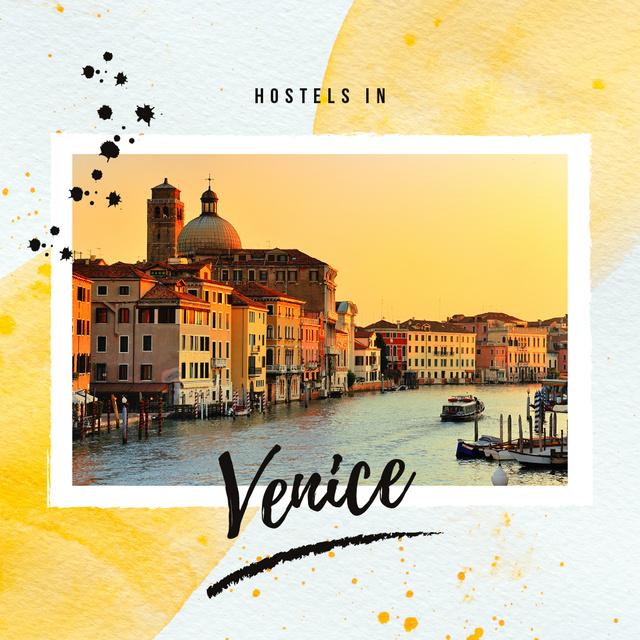 Plantilla de diseño de Venice city view Instagram