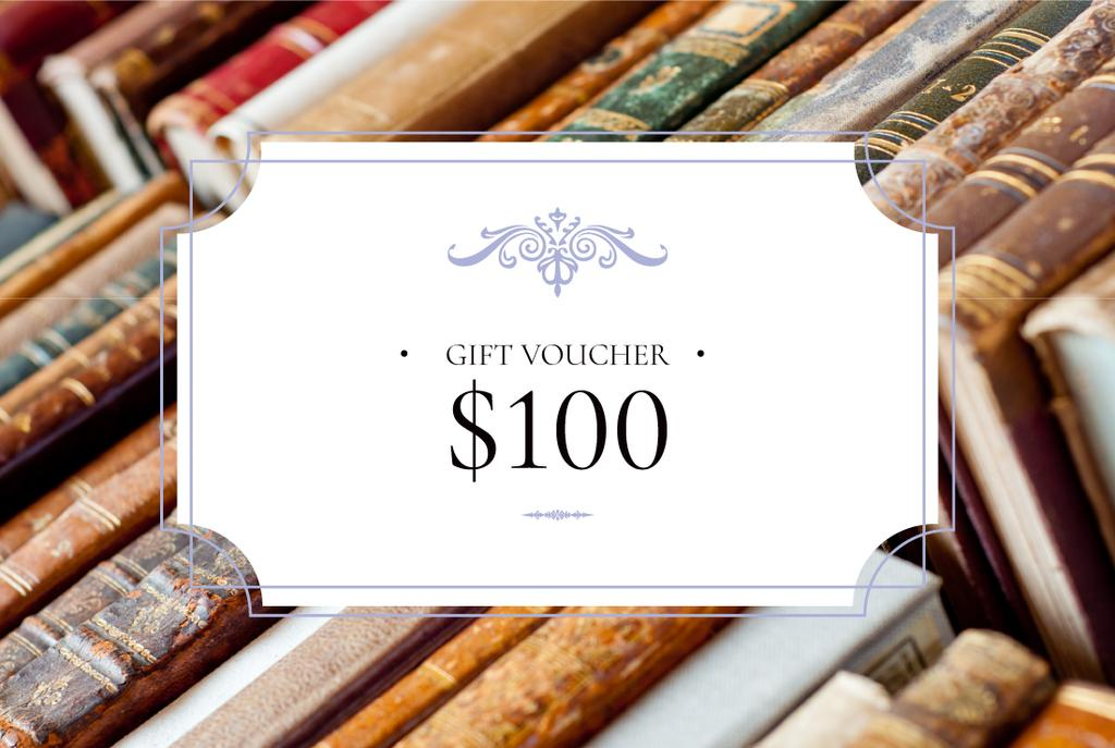 Gift voucher for bookstore — Crear un diseño