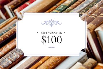 gift voucher for bookstore