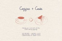 Cafe offer with Coffee and Cake
