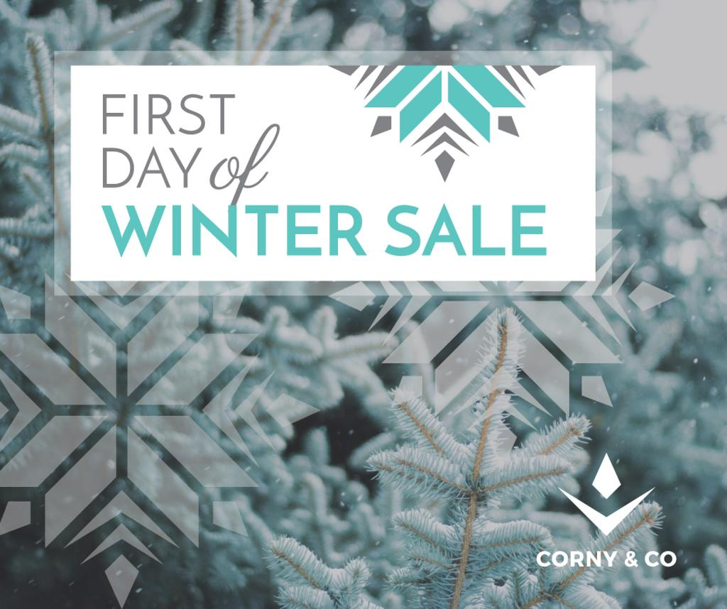 first day of winter sale banner — Crea un design