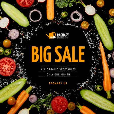 Food Store Sale Healthy Vegetables Frame Instagram – шаблон для дизайну