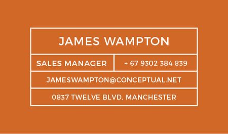 Ontwerpsjabloon van Business card van Sales Manager Services Offer