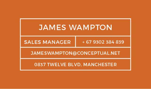 Ontwerpsjabloon van Business card van Sales Manager Services Offer