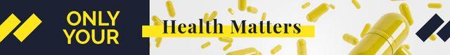 Modèle de visuel Health Quote Yellow Capsules Falling - Leaderboard