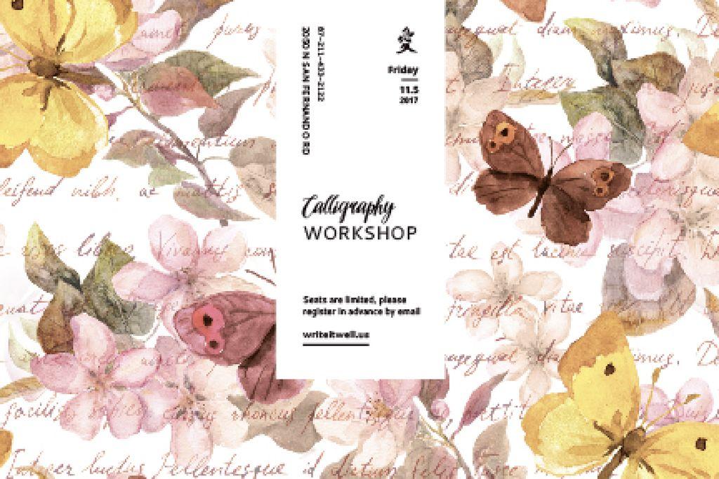Calligraphy workshop Annoucement — Crear un diseño