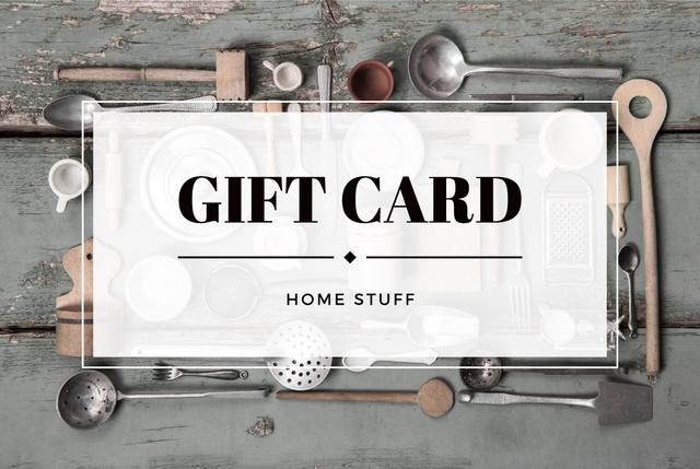 Plantilla de diseño de Store of homestuff Offer Gift Certificate