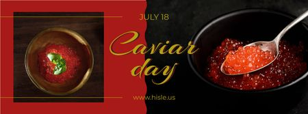 Modèle de visuel Delicious salmon caviar Day - Facebook cover