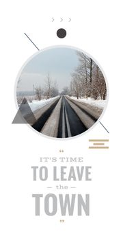 time to leave the town poster
