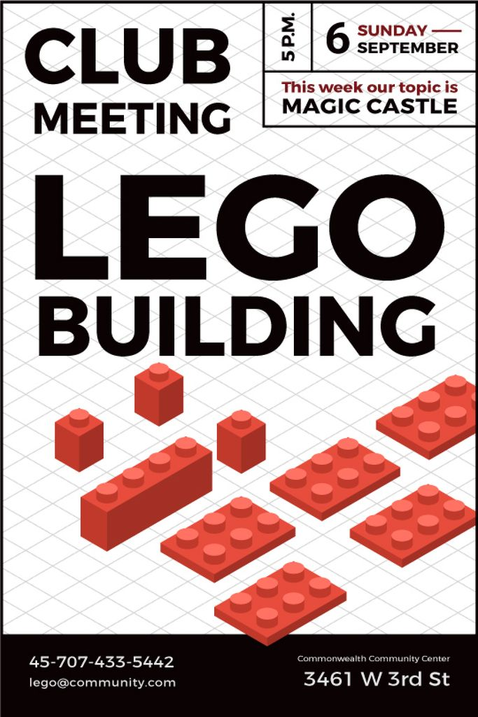 Lego Building Club Meeting — Створити дизайн