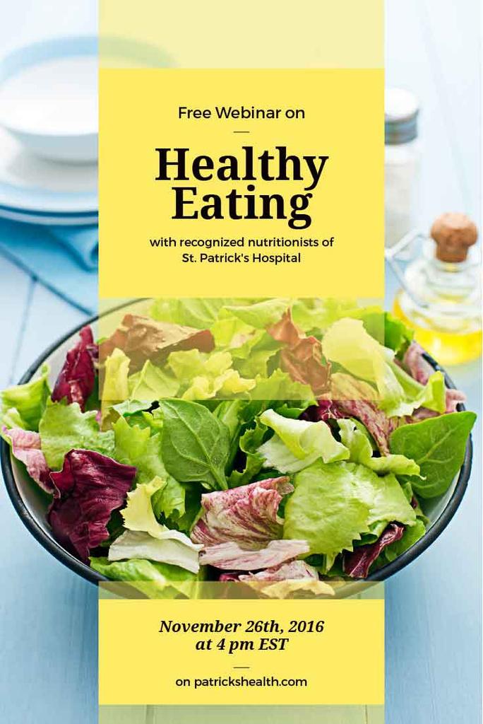 Free webinar of healthy eating — Créer un visuel