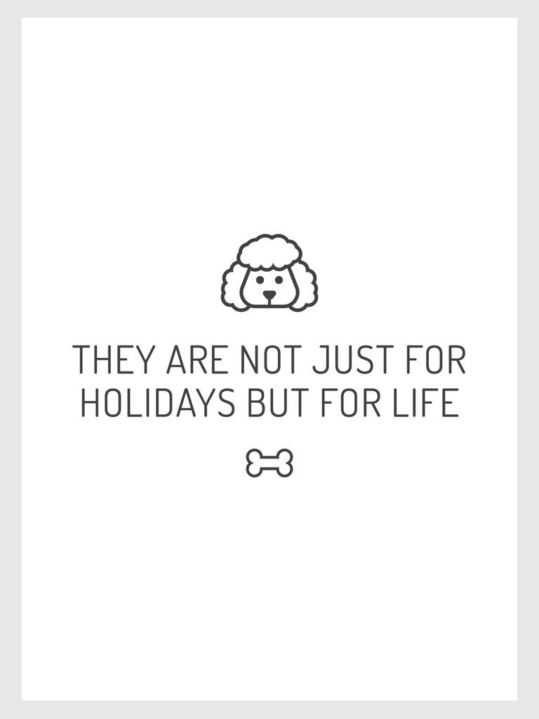 Pets Quote with Dog icon — Modelo de projeto
