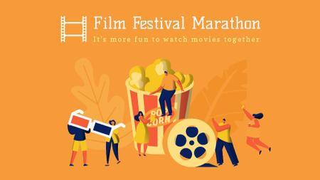 Film Festival poster Full HD video Modelo de Design