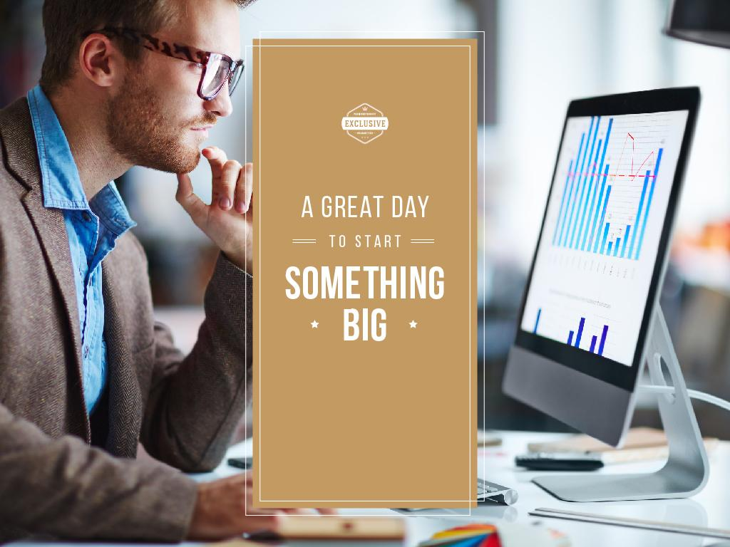 A great day to start big business — Modelo de projeto