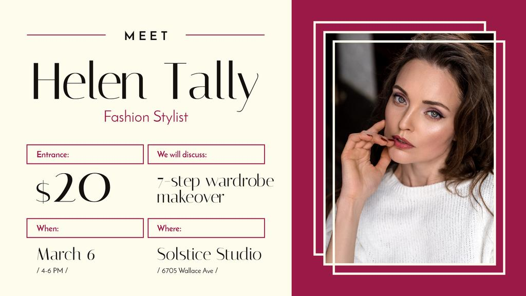 Fashion Stylist Promotion Woman with Glowing Skin | Facebook Event Cover Template — Créer un visuel
