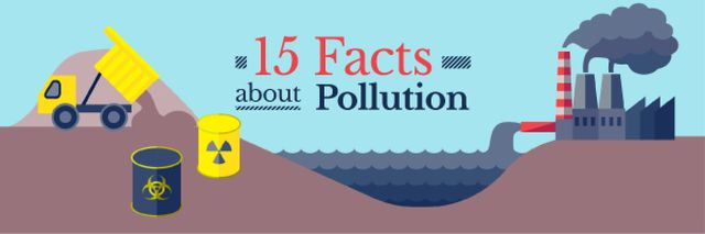 Facts about Pollution Email headerデザインテンプレート