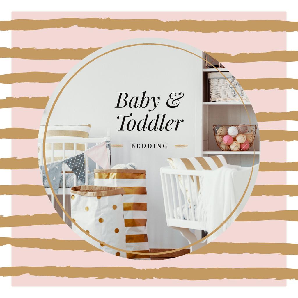 Ontwerpsjabloon van Instagram van Cozy nursery interior