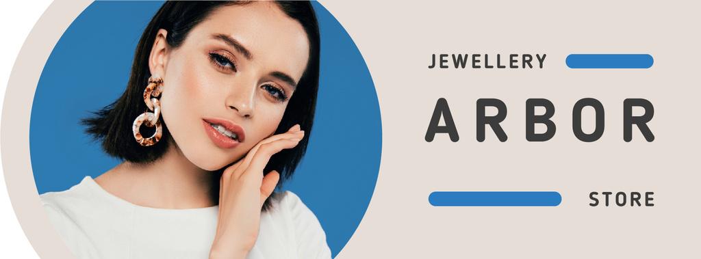 Jewelry Offer Woman in Stylish Earrings — Создать дизайн