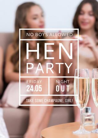 Template di design Hen party for Girls Poster