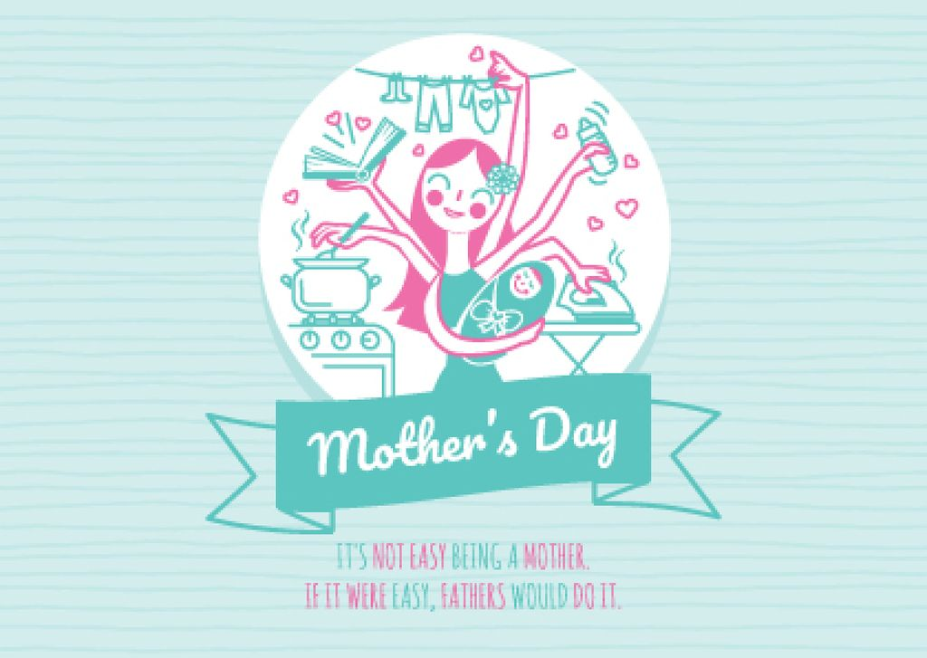 Happy Mother's Day with Happy Mom — Create a Design