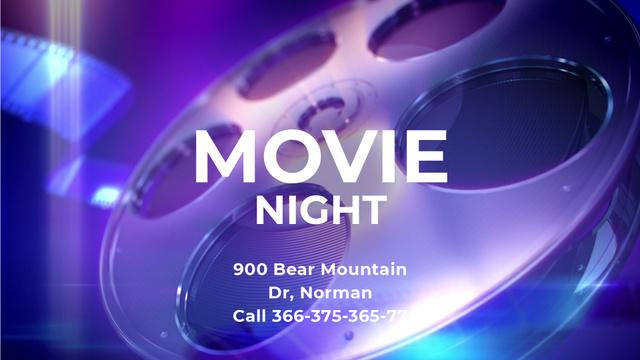 Movie Night Invitation Vintage Film Bobbin Full HD video – шаблон для дизайна