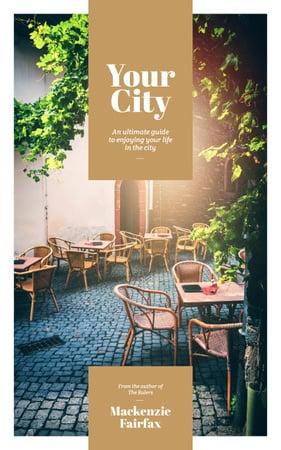 Plantilla de diseño de City Guide Cafe on Cobblestone Street Book Cover