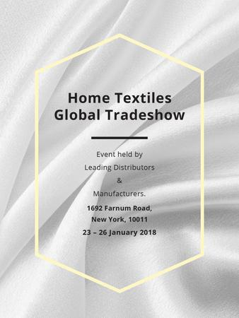 Plantilla de diseño de Home Textiles event announcement White Silk Poster US