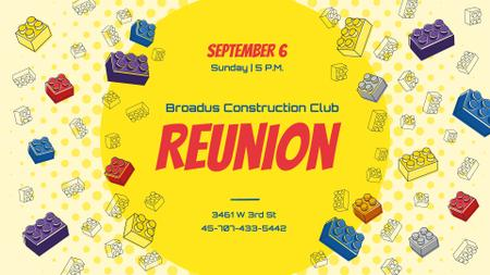 Construction Club Event Toy Constructor Bricks Frame FB event cover Modelo de Design