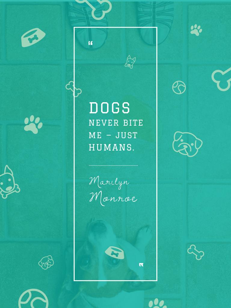 Plantilla de diseño de Dogs Quote with cute Puppy Poster US