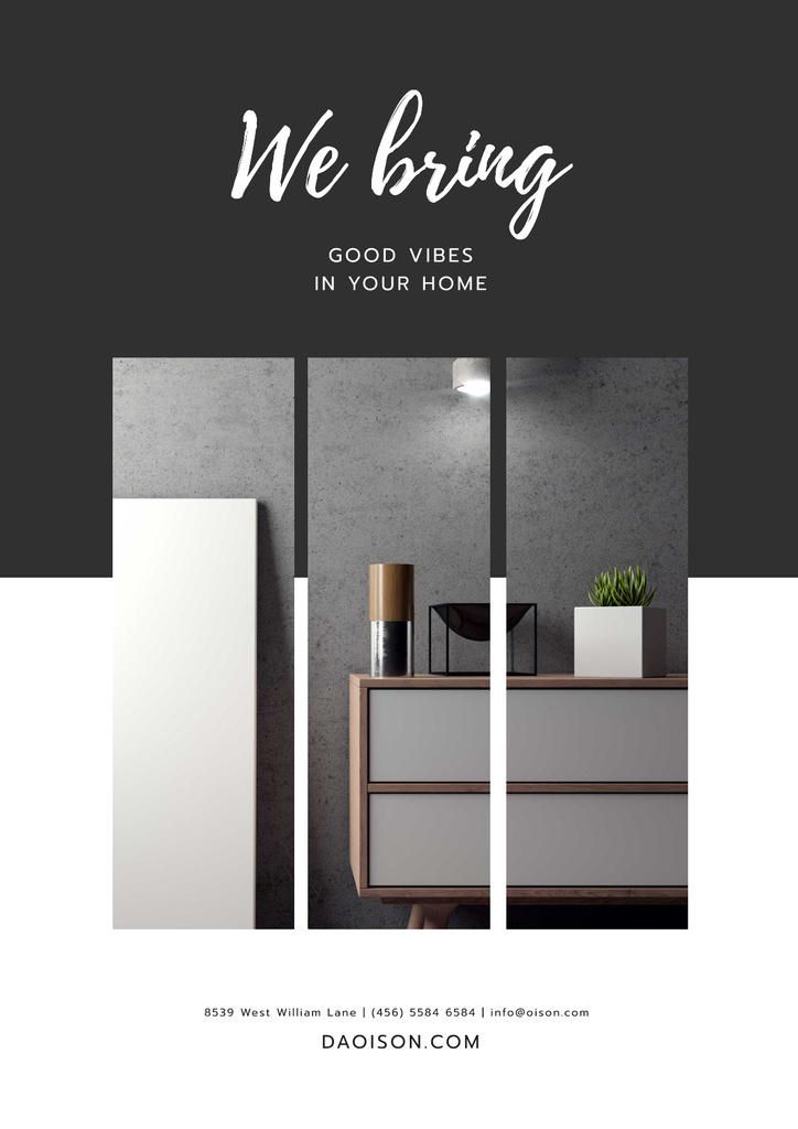 Furniture Store ad in grey — Crear un diseño