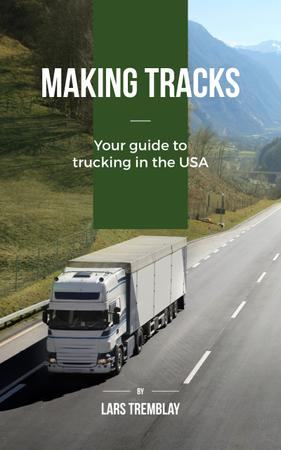 Truck driving on a road Book Cover Modelo de Design