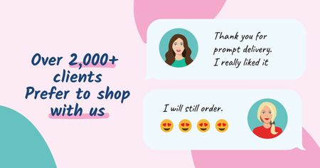 Template di design Customer Reviews of Cosmetic Store Facebook AD