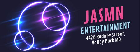 Ontwerpsjabloon van Facebook Video cover van Flickering neon lights circles