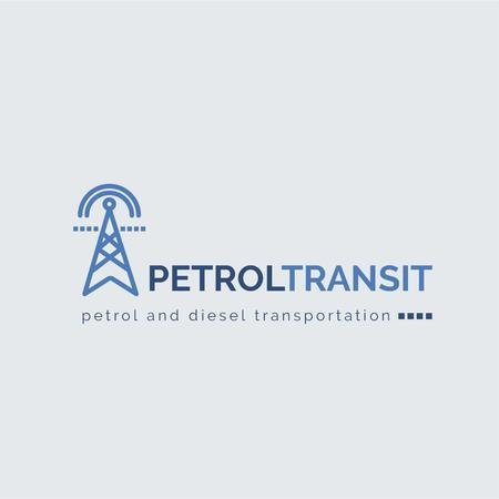 Petrol Transportation Industry Power Lines Icon Logo – шаблон для дизайна