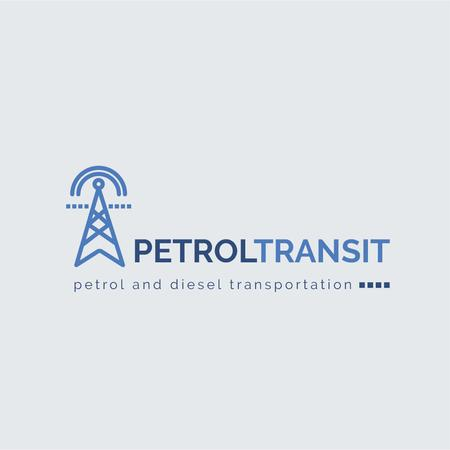 Petrol Transportation Industry Power Lines Icon Logo Modelo de Design