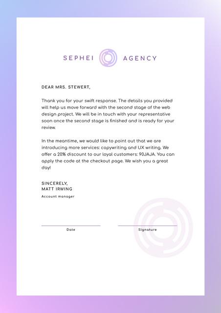 Business Agency official offer Letterhead Design Template